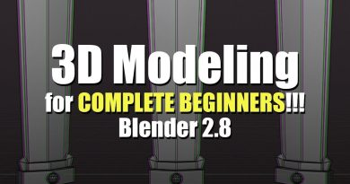 3D Modeling for Complete Beginners - Blender 2.8 - Part 1