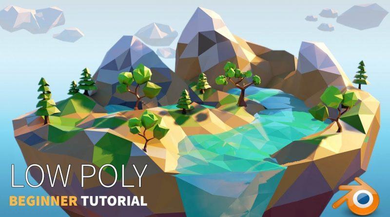 Low Poly Island    Beginner    Blender 2.8 Tutorial