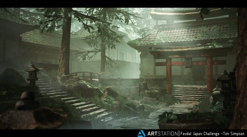 ArtStation Feudal Japan - Unreal Engine 4 Environment + Free Tutorial (UE4)