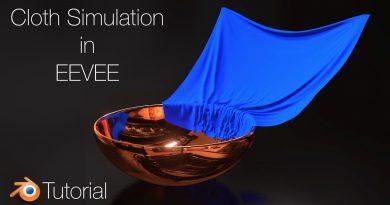 [2.8] Blender Tutorial: Cloth Animation in EEVEE