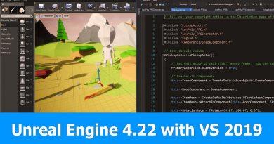 Unreal Engine 4.22 and Visual Studio 2019