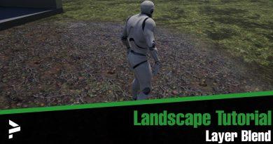 Unreal Engine 4 -Landscape Layer Blend with Variation
