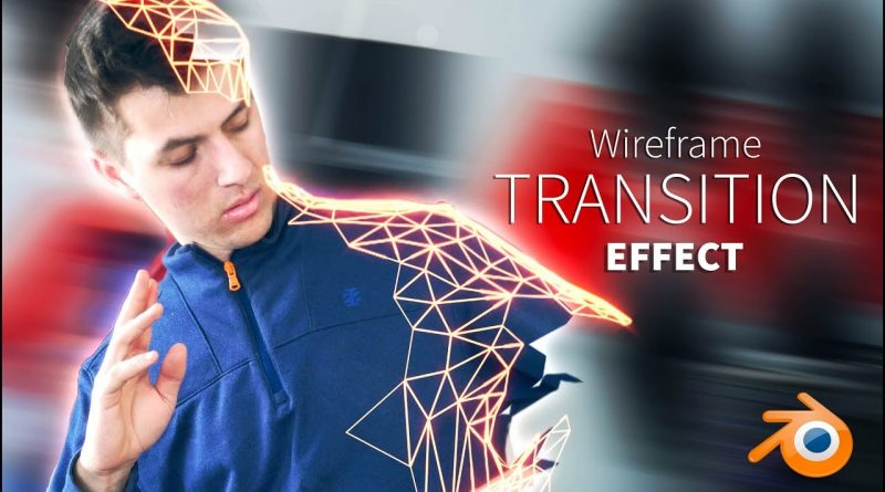 Make an AWESOME Wireframe TRANSITION Effect! Blender Tutorial