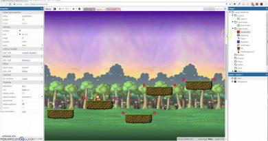 Make a 2D Platformer in Construct3 (10/10) - Jump-Thru Platforms and Parallax