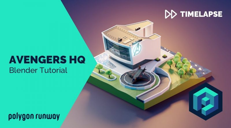 Avengers HQ - Blender 2.8 Low Poly 3D Modeling Tutorial