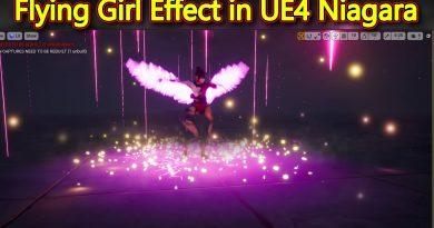Unreal Engine Flying Girl in Niagara Tutorial