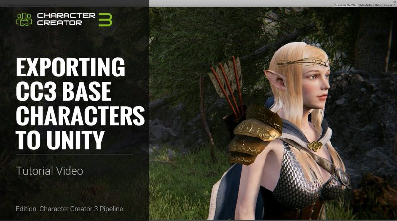 Character Creator 3 Tutorial - Exporting CC3 Base Characters to Unity