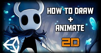 How to Draw and Animate Hollow Knight Characters - PS and Unity BEGINNER TUTORIAL (2019)