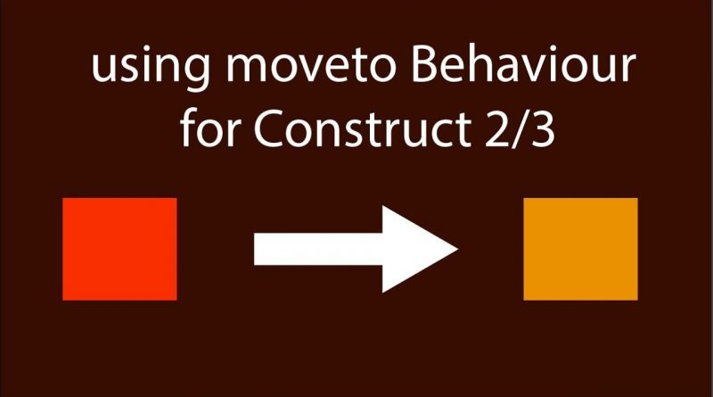 Construct 2 Enemy Ai fallow using Moveto Behaviour - Construct 3