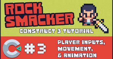 Construct 3 Tutorial - Rock Smacker #3 - Player Inputs, Movement, & Animation