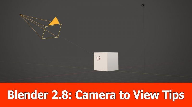 Blender 2.8 Camera to View Tutorial