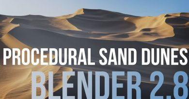 Creating Procedural Sand Dunes with Blender 2.8 - Tutorial Course Trailer