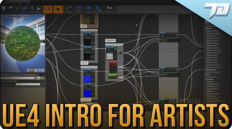 Unreal Engine 4 Beginner Tutorial for Artists | Setting up Assets, Material Blending, and More!
