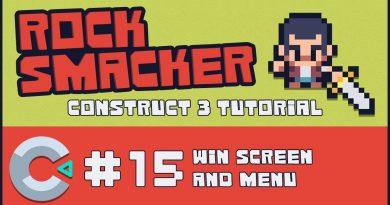 Construct 3 Tutorial - Rock Smacker #15 - Win Screen and Menu