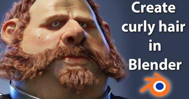 Blender Curly hair tutorial