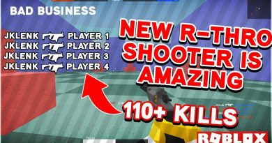This NEW! R-THRO FPS is AMAZING  - 110+ KILL GAME (Bad Business Roblox FULL Gameplay)