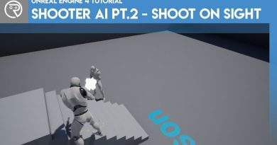 Unreal Engine 4 Tutorial - Shooter AI Pt.2 - Shooting on Sight