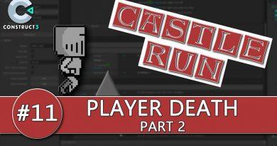Construct 3 Tutorial #11 - CASTLE RUN - Player Death part 2