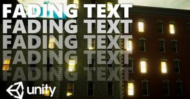 HOW TO MAKE A FADING TEXT EFFECT UNITY TUTORIAL