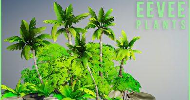 Create simple plants in Blender 2.8 - Eevee island environment beginner tutorial pt. 2