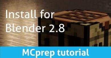 Install #MCprep for Blender 2.8 (Blender Minecraft addon tutorial)