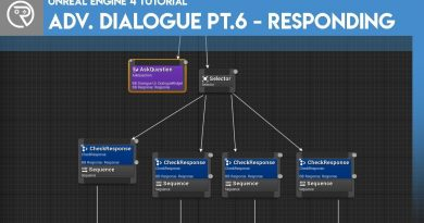 Unreal Engine 4 Tutorial - Advanced Dialogue Pt.6 - Responding