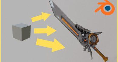Modeling a Sword from Concept Art in Blender 2.8 [MEGA TUTORIAL]
