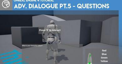 Unreal Engine 4 Tutorial - Advanced Dialogue Pt.5 - Questions