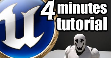 UE 4 Minutes Beginner TUTORIAL - Rorschach face mask material animation