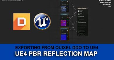 Setup Unreal engine 4 PBR Reflection Map tutorial - DDO to UE4 - RMA Packed