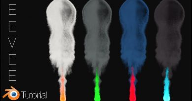 [2.8] Fire and Smoke with Colors in EEVEE, Blender Tutorial