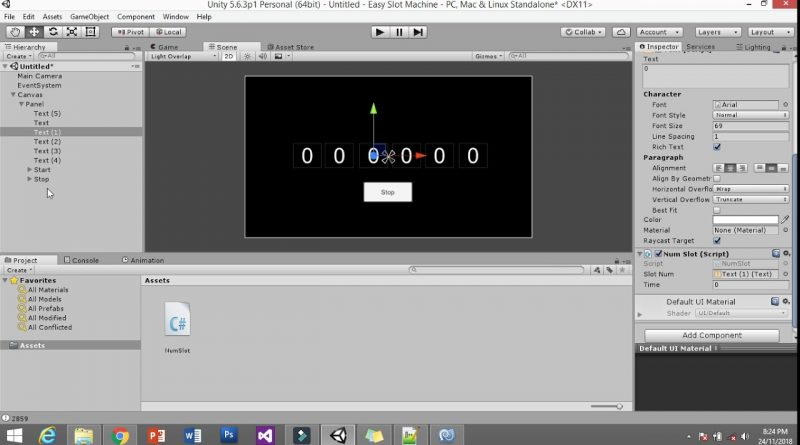 Simple Slot Machine : Unity Tutorial