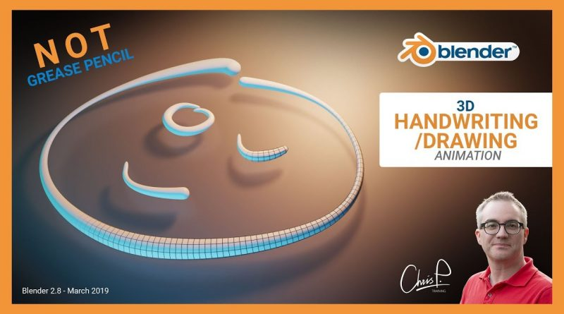 3D Handwriting/Drawing Animation - Blender Tutorial