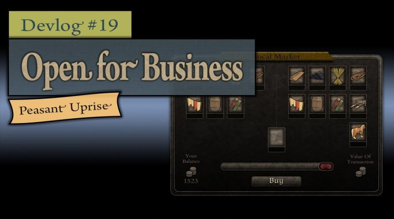 Indie Game Devlog #19 ~ Open for Business