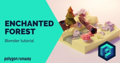 Enchanted Forest - Blender Low Poly 3D Modeling Tutorial