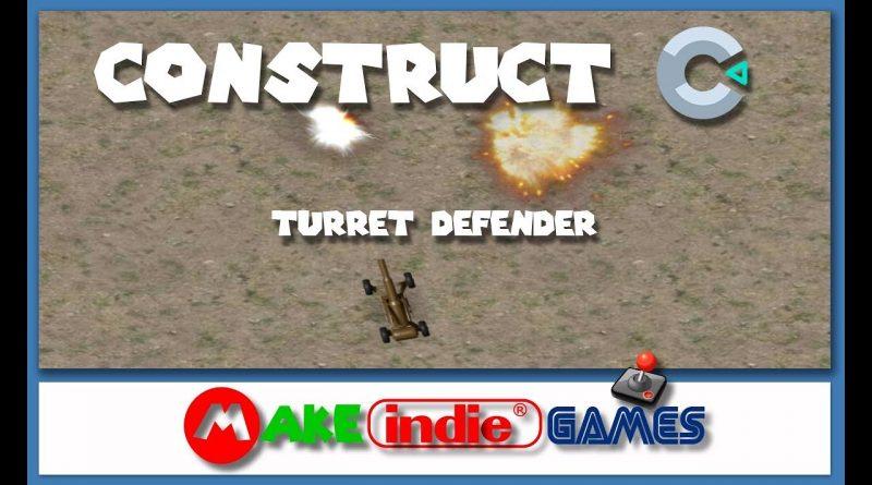 Construct 3 - Turret Defender - 02 Programando o Player