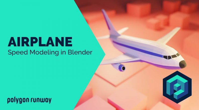 Low Poly Airplane - Blender 2.8 Low Poly 3D Modeling Tutorial