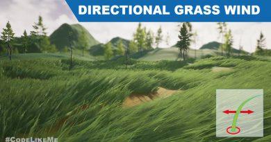 Unreal Directional Grass Wind - UE4 Tutorials #295
