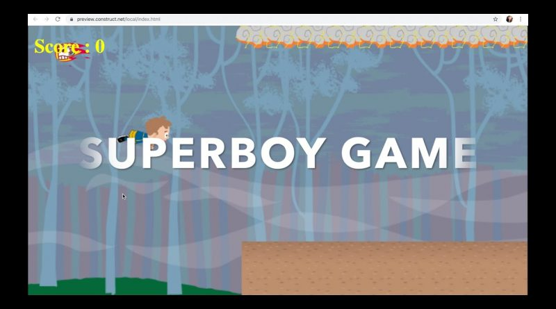 How to Make Superboy Game With Construct 3 Part 1