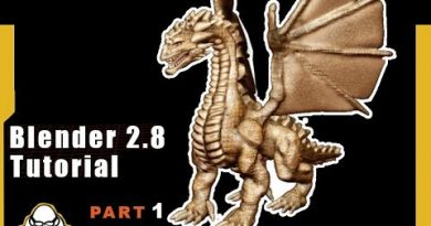 Blender 2.8 Tutorial How To Make  A Dragon Step by Step Part 1