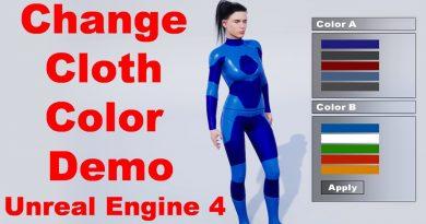 Change cloth color Menu   Demo   Random Character   Unreal Engine 4 Tutorial