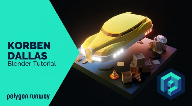 Korben Dallas - Blender 2.8 Low Poly 3D Modeling Tutorial