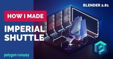 Imperial Shuttle in Blender 2.8 - Low Poly 3D Modeling Tutorial