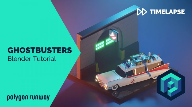 Ghostbusters - Blender 2.8 Low Poly 3D Modeling Timelapse Tutorial