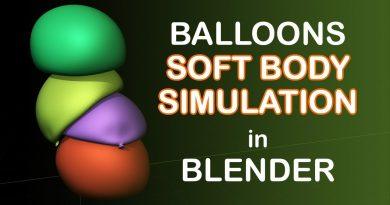 Soft Body Balloons Simulation - Blender Tutorial