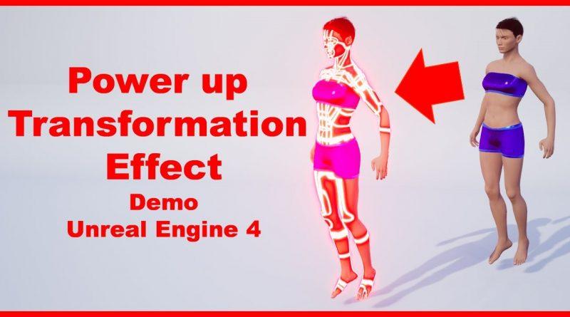 Power up Transformation Effect   Demo   Random Character   Unreal Engine 4 Tutorial