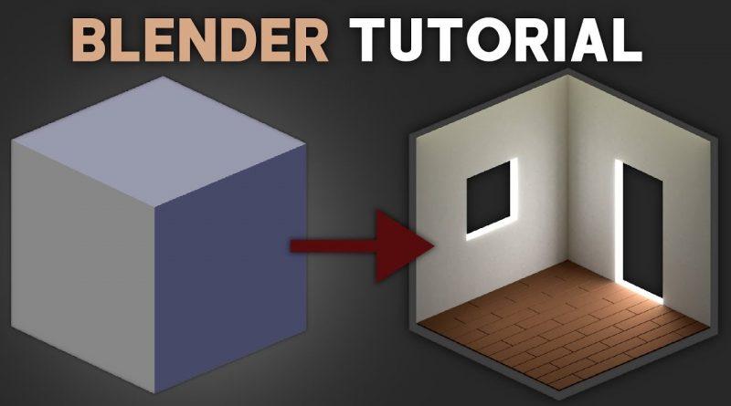 Blender - Isometric View Room Tutorial - Step by Step [Easy]