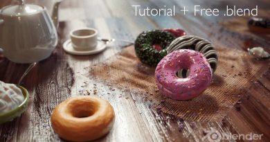 Blender 2.8 Tutorial - Donut FREE DOWNLOAD + COMPETITION