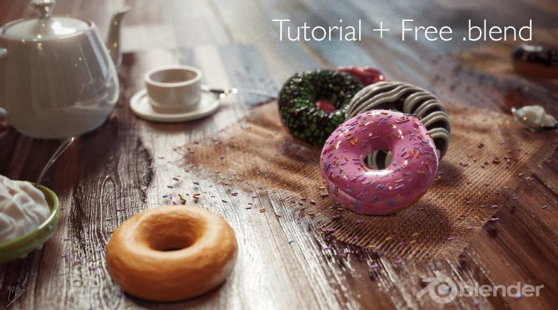 Blender 2.8 Tutorial - Donut FREE DOWNLOAD + COMPETITION