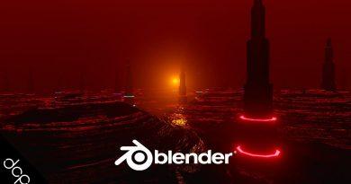 Blender Sci Fi City Landscape - Blender 2.8 Animation Tutorial